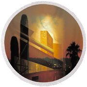 Remembering New York Round Beach Towel