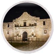 Remembering The Alamo Round Beach Towel