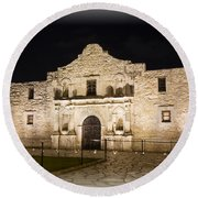 Remembering The Alamo Round Beach Towel by Stephen Stookey
