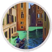 Remembering Venice Round Beach Towel