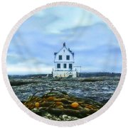 Remnants On The Rocks Round Beach Towel