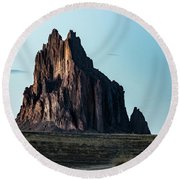 Remote Yet Imposing Round Beach Towel