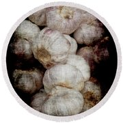 Renaissance Garlic Round Beach Towel