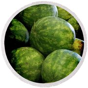 Renaissance Green Watermelon Round Beach Towel