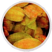 Renaissance Star Fruit Round Beach Towel