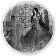 Round Beach Towel featuring the digital art Rendezvous by Shadowlea Is