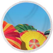 Round Beach Towel featuring the photograph Reno Balloon Races by Bill Gallagher