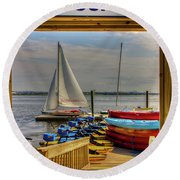 Rental Dock Round Beach Towel
