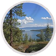 Round Beach Towel featuring the photograph Replete With Beauty by Lynda Lehmann