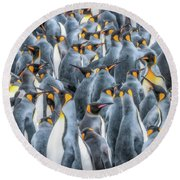 Republicans Discussing Climate Change. Round Beach Towel