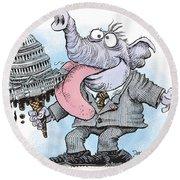 Republicans Lick Congress Round Beach Towel