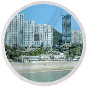 Round Beach Towel featuring the photograph Hong Kong - Repulse Bay by Mark Forte