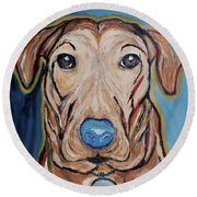 Rescued Round Beach Towel by Victoria Lakes