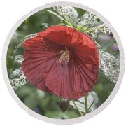 Resilient Hibiscus Round Beach Towel