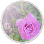 Round Beach Towel featuring the photograph Resilient Rose by Cindy Garber Iverson