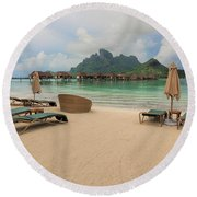 Resort Life Round Beach Towel
