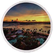 Resort Sunset Round Beach Towel