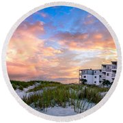 Rest And Relaxation Round Beach Towel by David Smith