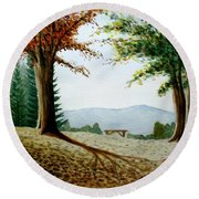 Rest Area Round Beach Towel