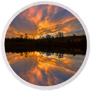 Round Beach Towel featuring the photograph Rest In His Righteousness by Rose-Maries Pictures
