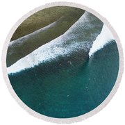 Restaurants Fiji Aerial Round Beach Towel by Brad Scott