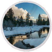 Resting Creek Round Beach Towel