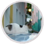 Resting Place Round Beach Towel