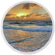 Round Beach Towel featuring the photograph Restless by HH Photography of Florida