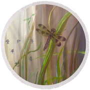 Restoration Of The Balance In Nature Cropped Round Beach Towel