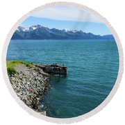 Resurrection Bay Round Beach Towel