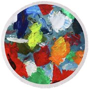 The Artists Palette Round Beach Towel