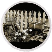 Round Beach Towel featuring the photograph Retirement by Betsy Zimmerli