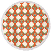 Retro 1950's Pattern Round Beach Towel
