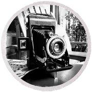 Retro Camera Round Beach Towel by Daniel Dempster