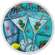 Retro Martini Round Beach Towel by Lisa  Lorenz