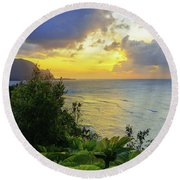 Round Beach Towel featuring the photograph Return by Chad Dutson