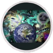 Return Of The Elders 3 Round Beach Towel