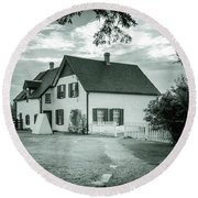 Round Beach Towel featuring the photograph Returning From Lovers Lane by Chris Bordeleau