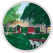 Retzlaff Winery Round Beach Towel
