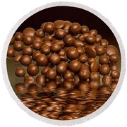 Round Beach Towel featuring the photograph Revels Chocolate Sweets by David French