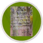 Reverence Of Trees Round Beach Towel