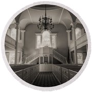 Reverence - Old First Church Of Bennington Round Beach Towel