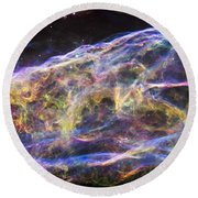 Round Beach Towel featuring the photograph Revisiting The Veil Nebula by Adam Romanowicz