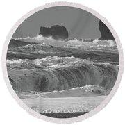Reynisfjara Beach Vik Iceland 6845 Round Beach Towel