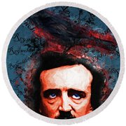 Round Beach Towel featuring the photograph Reynolds I Became Insane With Long Intervals Of Horrible Sanity Edgar Allan Poe 20161102 Sq by Wingsdomain Art and Photography