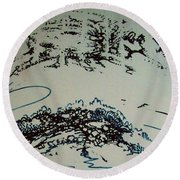 Rfb0210 Round Beach Towel