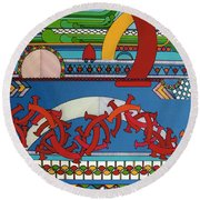 Rfb0403 Round Beach Towel