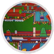 Rfb0404 Round Beach Towel