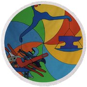 Rfb0924 Round Beach Towel