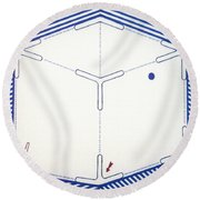 Round Beach Towel featuring the drawing Rfb1011 by Robert F Battles